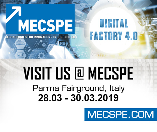 Visit us at MECSPE March 22-24, 2018 - Parma, Italy